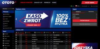 Legalny bukmacher eToto - darmowe 50 PLN na start!