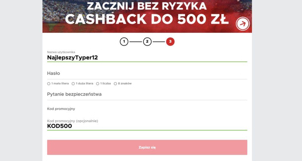 Betclic bonus powitalny 500 PLN
