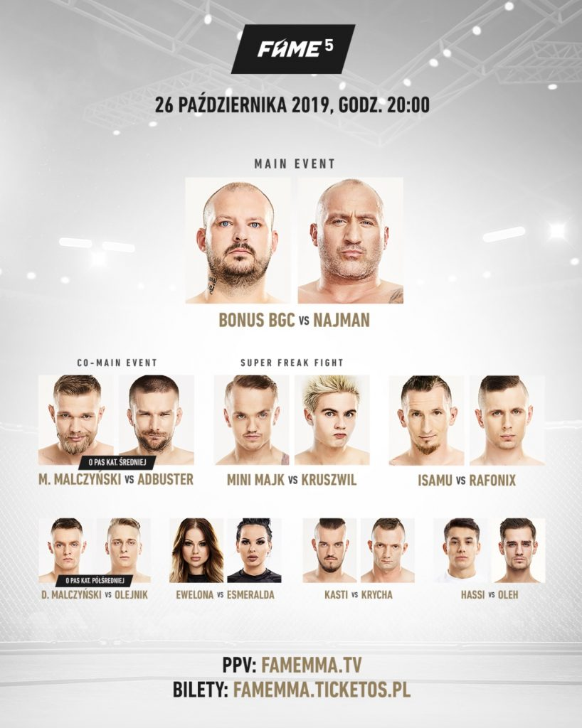 fame mma 5 fight card